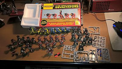 Lotto Space Marine Warhammer 40K 40000 Space Wolves Terminator Esercito Army