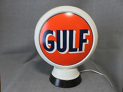 Gulf Light Up Globe Gasoline Pump Oil Advertizing