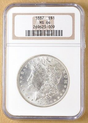 1887 P Morgan Silver Dollar NGC MS64