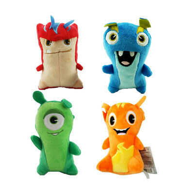 4 Pcs Slugterra Soft Plush Toy Doll Cartoon Movie Toys Gift Set Collection15 CM