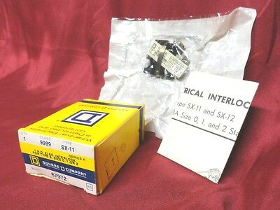NEW SQUARE-D Auxiliary Contact N/O PN: 9999-SX-11 New Old STOCK in ORIGINAL BOX