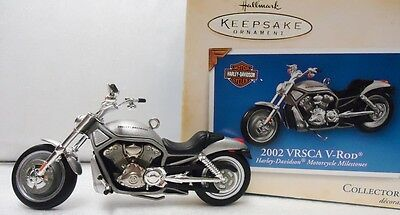 HALLMARK Harley 2002 VRSCA V ROD Motorcycle Collectible 2004 Ornament NEW