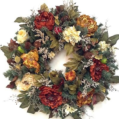 Fall Wreath, Beautiful  Thanksgiving Wreath for your door.
