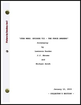 Star Wars: Episode VII - The Force Awakens - THE MOVIE SCRIPT / SCREENPLAY