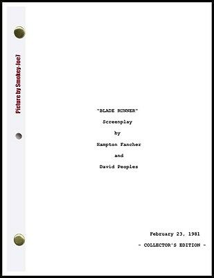 Blade Runner - THE MOVIE SCRIPT / SCREENPLAY