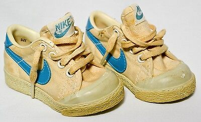 Sneakers Nike Baby Shoes Vintage 1980's Court Canvas Tennis Size 2 Toddler