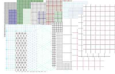 "Lot of 20 Desing Paper Graph Notebook ""ONLY Printable A4 PDF"""