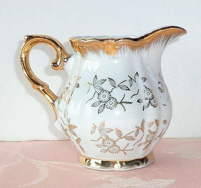 Vintage Empress China CREAMER Gold Encrusted Floral Japan Fancy Elegant