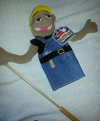 PUPPET Harry I Beamer  Hand PUPPET NWT Construction Worker