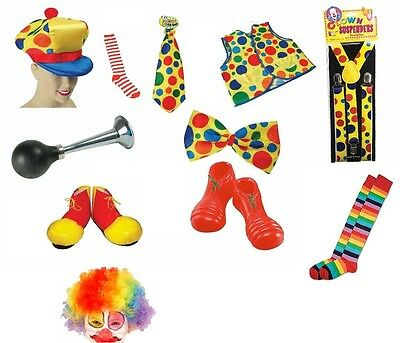 Adult Unisex Clown Costume Accessory Clowns & Circus Fancy Dress Shoes