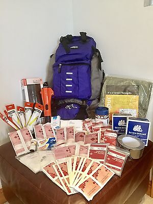 2-Person Deluxe Emergency Survival & First Aid Kit (120 Components)