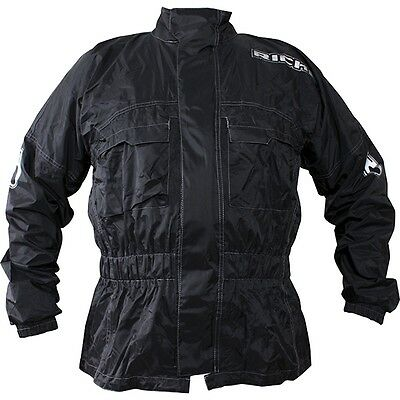Richa Rain Warrior All Weather Black 100% Waterproof Motorcycle Over Jacket