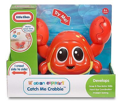 Little Tikes Ocean Explorer Catch Me Crabbie Crawl Baby FuN Chase TOY MOTION NEW