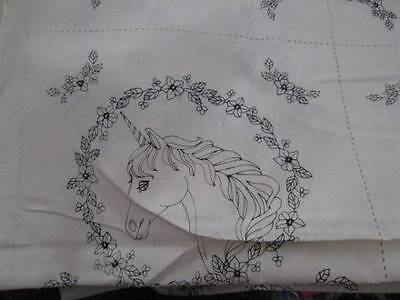 Unicorn Quilt Blocks-21 Of 14x14 Inches #2972-Tri-Chem Liquid Embroidery To Pain