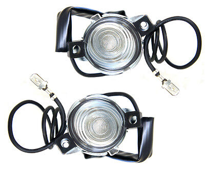 55 Full Size Chevy Bel Air license Plate Lamp Light Assembly Kit Pair 2pcs L4601