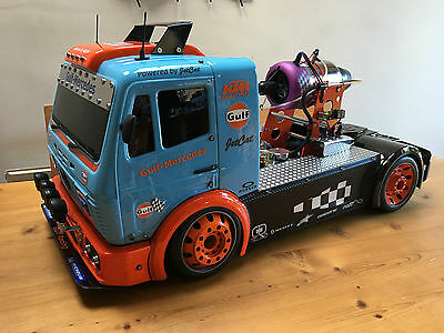 FG 1:5 Mercedes Model JET TRUCK – P160 JETCAT Turbine! in Gulf Racing Colours