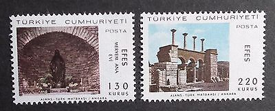 Turkey (1967) Visit of Pope Paul VI / Religion / Ancient Monuments - Mint (MNH)