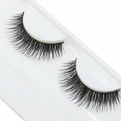 1 PAIO DI CIGLIA FINTE LUNGHE nere, 12 MM (FALSE EYELASHES) N. 10