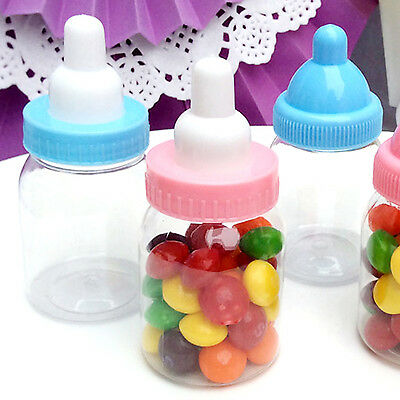 24X Fillable Bottles Sweet Candy Boxes Baby Shower Baptism Party Table Decor BE