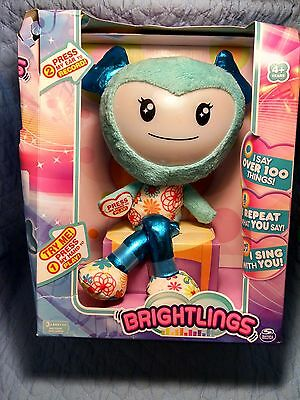 Spin Master Brightlings Teal Blue Interactive Sounds Plush Toy Damaged Box B323