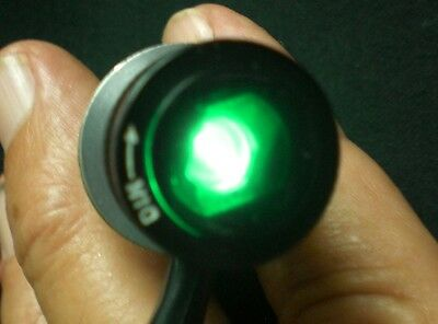 Press-to-Test Adjust.Dimmer Military Pilot Light Assembly Green, CSD #A304DJ,USA