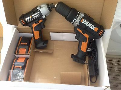 Worx Twin Pack Combi Drill And Impact Driver - 20V.