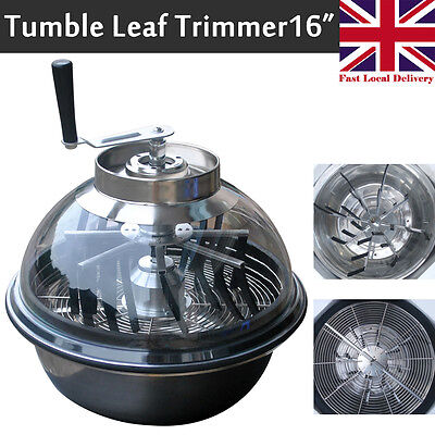 "Alondy 16"" Clear Top Hydroponic Tumble Leaf Trimmer Bowl Spin Pro Bud Machine"