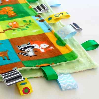 Owl & Friends Taggie Security Blanket Toy baby Comforter dummy clip holder