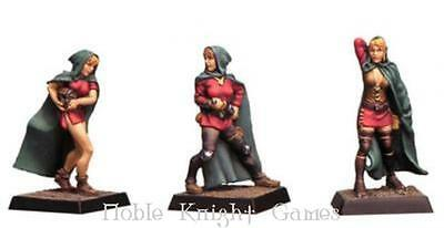 Fenryll Fantasy Mini Resin 28mm 3-Stages Female Thief Pack MINT