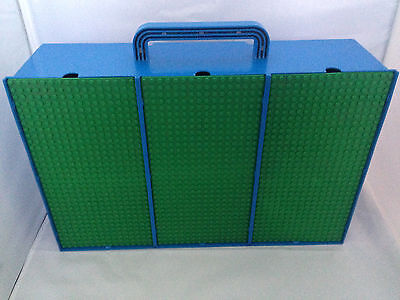 Vintage Blue Lego Storage Carry Case/Box - 3 Sections With 9 Compartments