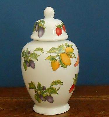 A Small Porcelain baluster jar with fruit print
