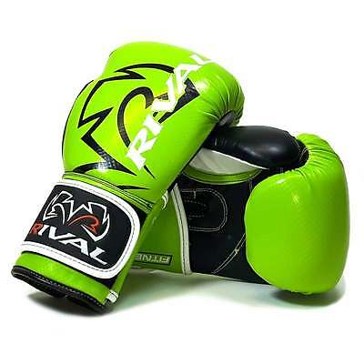 Rival Muay Thai RB7 Fitnessplus Bag Boxing Gloves - Lime Black