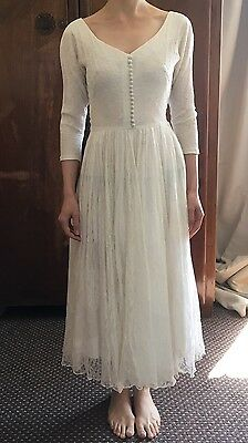 Vintage Original 1950s Chantilly Lace Wedding Dress