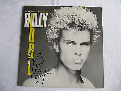 Billy Idol Signed Autographed Lp Cover Don't Stop In-Person Authentic Amazing