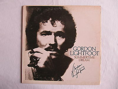 Gordon Lightfoot Signed Autographed Summertime Dream Lp Cover Record In-Person
