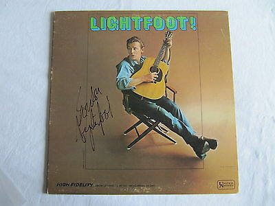 Gordon Lightfoot Signed Lightfoot! Lp Cover Record Album In-Person Authentic