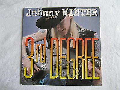 Johnny Winter Signed Autographed Lp Cover Record Vinyl 3Rd Degree In-Person Rare