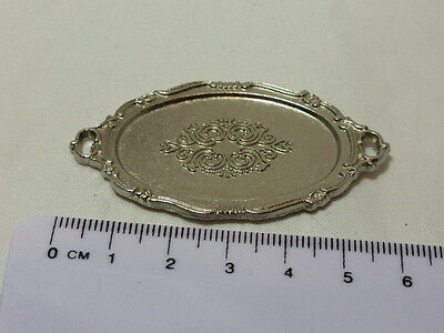 1:12 Scale  Silver Metal Tray style a Dolls House Miniature Kitchen Accessory