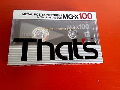 CASSETTE TAPE BLANK SEALED - 1x (one) THAT'S MG-X 100 [1989] METAL Taiyo Yuden