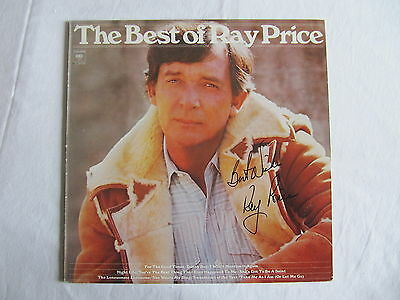 Ray Price The Best Of Lp Cover Signed Autographed Record Album In-Person
