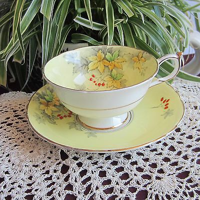 Paragon G6000 Yellow Hand Painted Bone China Tea Cup and Saucer
