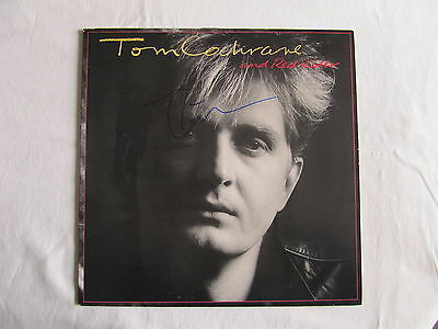 Tom Cochrane Red Rider Signed Lp Cover Album Record In-Person Authentic