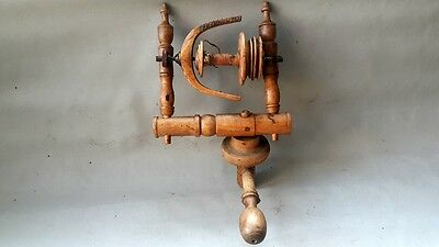 ANTIQUE SPINNING WHEEL's SPOOL FLYER (WITH IT's FRAME)