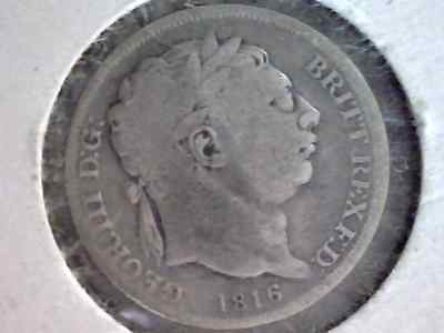 1816 Sixpence Silver Coin - George III Great Britain 6 Pence