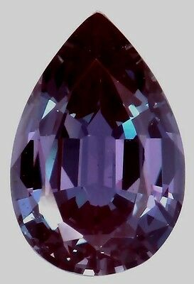 Lab-grown Pear shape Created Alexandrite (true Alexandrite, not fake sapphire)