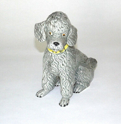 Vintage Grey Shafford Poodle Japan 7 1/2 Inches Wonderful Condition