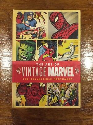 The Art Of Vintage Marvel Postcards 100 Collectible Postcards (RARE)