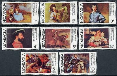 Nicaragua: 1978 Gainsborough and Titian Paintings (1066-1072, C932-C933) MNH