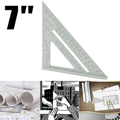 7 Inch Aluminium Alloy Right Angle Triangle Ruler for Industrial Measuring Tool