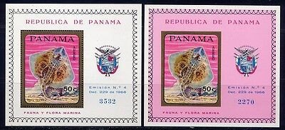 Panama 1968 Fische Fishes Poissons Pesci Block 91 A B Perf Imperf Postfrisch MNH